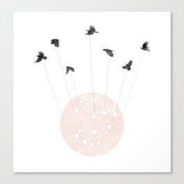 Foliage of Stars: Bird Moon Canvas Print