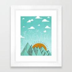 go on an adventure Framed Art Print