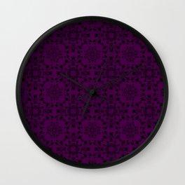 Plum Purple Lace Wall Clock