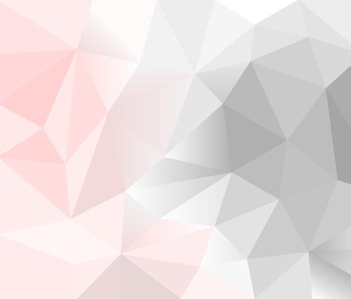 pink and gray geometric low poly background Metal Travel Mug