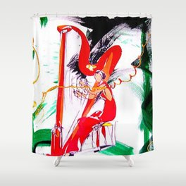 Catrina Finch   `tros y garreg'           by    Kay Lipton Shower Curtain