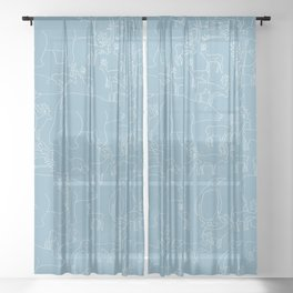 Global warming and animal migration 03 Sheer Curtain