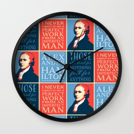 Alexander Hamilton Quotes Wall Clock