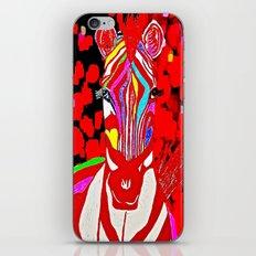 Zebra Red and White iPhone & iPod Skin