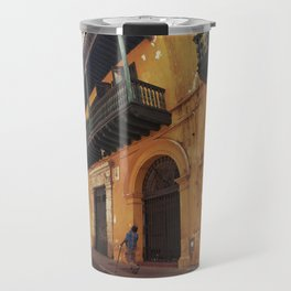 Swinging Yellow - Enchanting Cartagena de Indias - Magical Realism Travel Mug