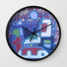 PERRO ROJO DENTRO DEL PAISAJE Wall Clock