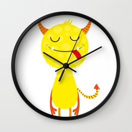 Funny little monster #society6 #decor Wall Clock