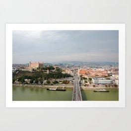 Bratislava city in Slovakia, Europe Art Print