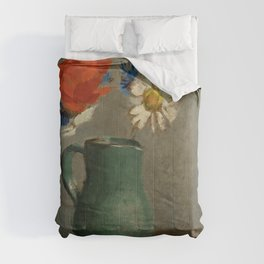 "Odilon Redon ""Pichet au Coquelicot et a la Marguerite"" Comforters"