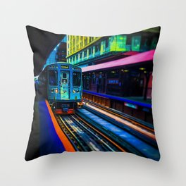 Brown Line Approaching Throw Pillow