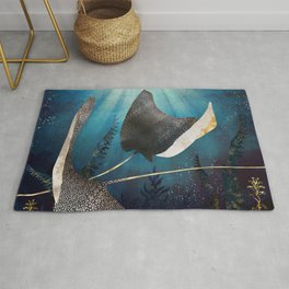 Metallic Stingray Rug