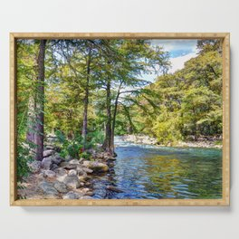 Guadalupe River - Gruene Texas Serving Tray