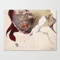 run Canvas Prints featuring Run by Al Barazi