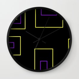 Yellow and Purple Wall Clock