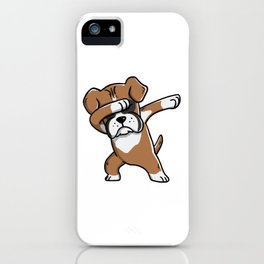 Funny Boxer Dog Dabbing iPhone Case