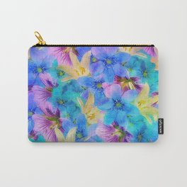 Vivid Floral Pattern Carry-All Pouch