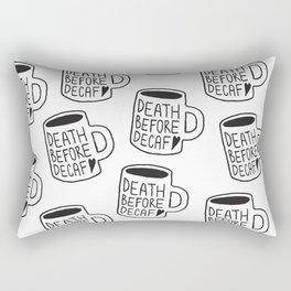 Death Before Decaf Rectangular Pillow