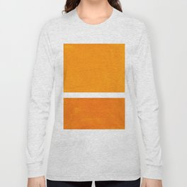 Antique Yellow  & Yellow Ochre Mid Century Modern Abstract Minimalist Rothko Color Field Squares Long Sleeve T-shirt