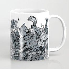 Saturday Knight Special STEEL BLUE / Vintage illustration redrawn and repurposed Coffee Mug