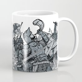 Saturday Knight Special STEEL BLUE / Vintage illustration redrawn and repurposed Coffee Mug