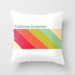 California Dreamin' Retro Throw Pillow