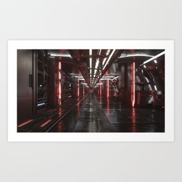 dark corridor Art Print