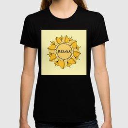 Relax Nouveau Golden Sun Mandala T-shirt