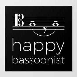 Happy bassoonist (dark colors/tenor clef) Canvas Print