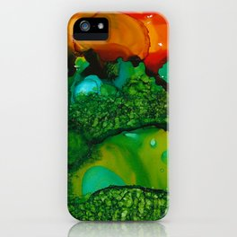 """Dreamscape """"The Hills Are Alive"""" Painting by Katiebug of Katty Candles and Jewelry iPhone Case"""