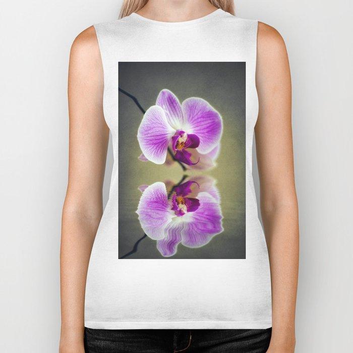 Orchid Reflections Biker Tank