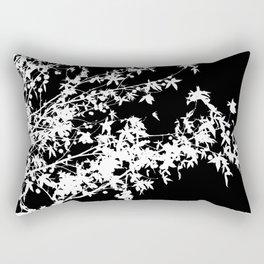 white on black Rectangular Pillow