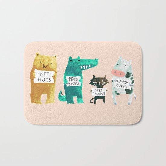 Animal idioms - its a free world Bath Mat
