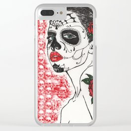 La Calavera Katrina Clear iPhone Case