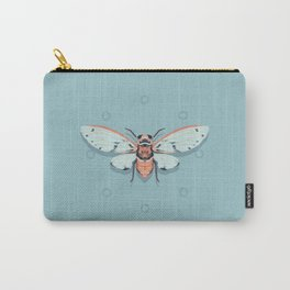 Orange and Blue Insect Carry-All Pouch
