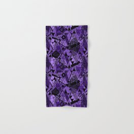 Abstract ethnic pattern in black, purple colors. Hand & Bath Towel
