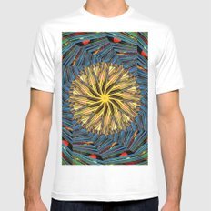 mandala circle lines White Mens Fitted Tee MEDIUM