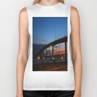 bridge Biker Tanks featuring Bridge by Alyssa Gioia