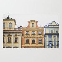 prague Area & Throw Rugs featuring Prague   by Kameron Elisabeth