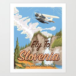 Fly to Slovenia Art Print