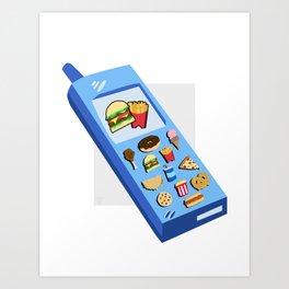 FoodPhone Art Print