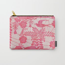Flying Bird in Pink Carry-All Pouch