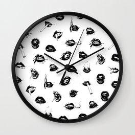 Sexy Lips by Kathy Morton Stanion Wall Clock