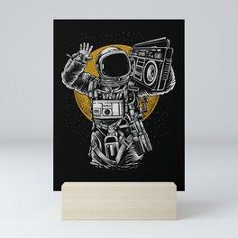 Astronaut Boombox Mini Art Print