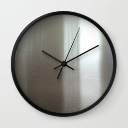 Industrial Brushed Stainless Wall Clock