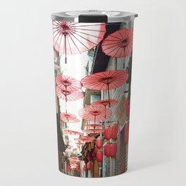Asia in Red Travel Mug