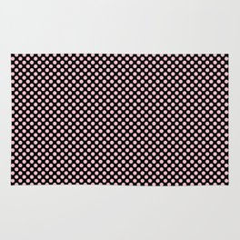 Black and Rose Shadow Polka Dots Rug