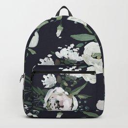 Rustic Floral Print Backpack