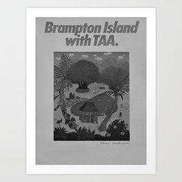 retro classic Brampton Island poster Art Print