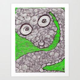 Spiral Snake Art Print