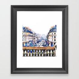 Paris Avenue De L'opera Moderne Framed Art Print